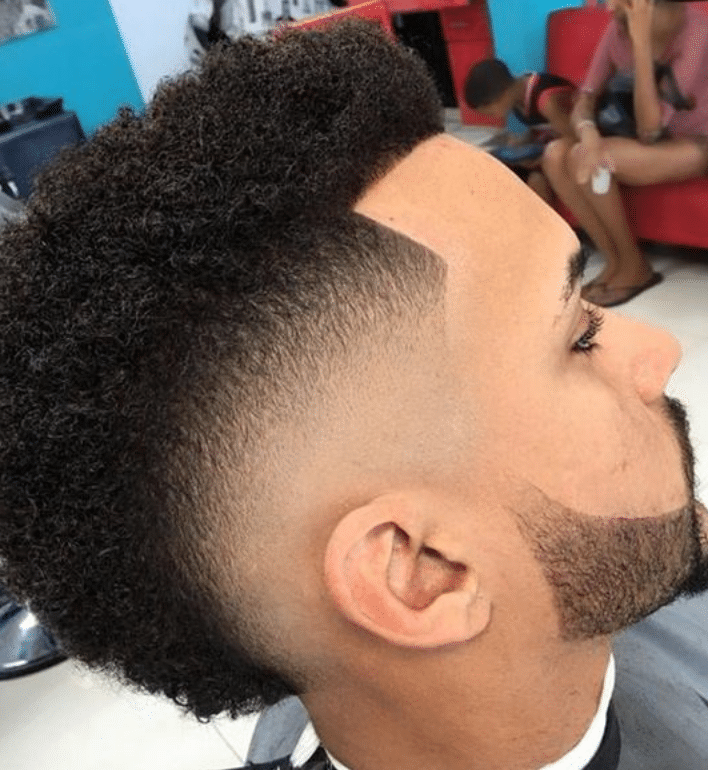 burst fade haircut