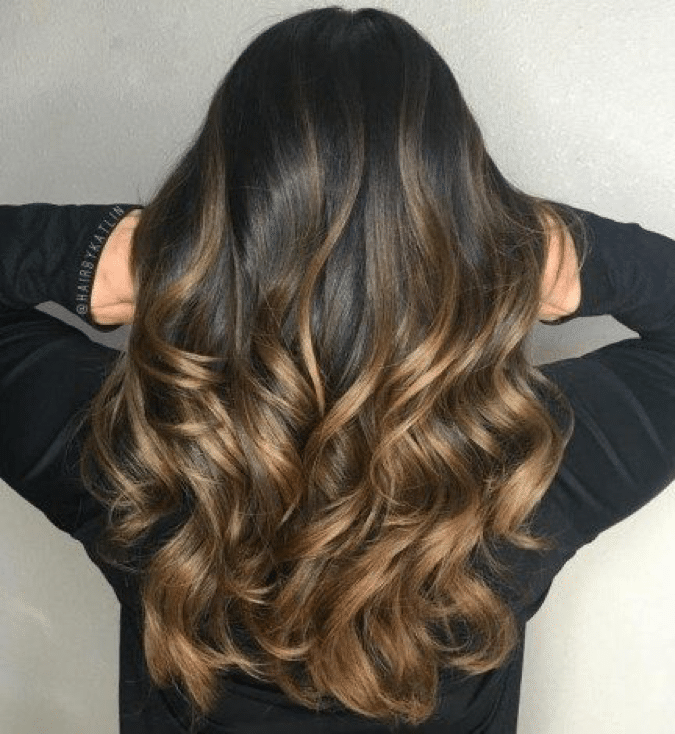 curly layers long hair