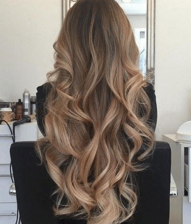 long layered hair with bangs