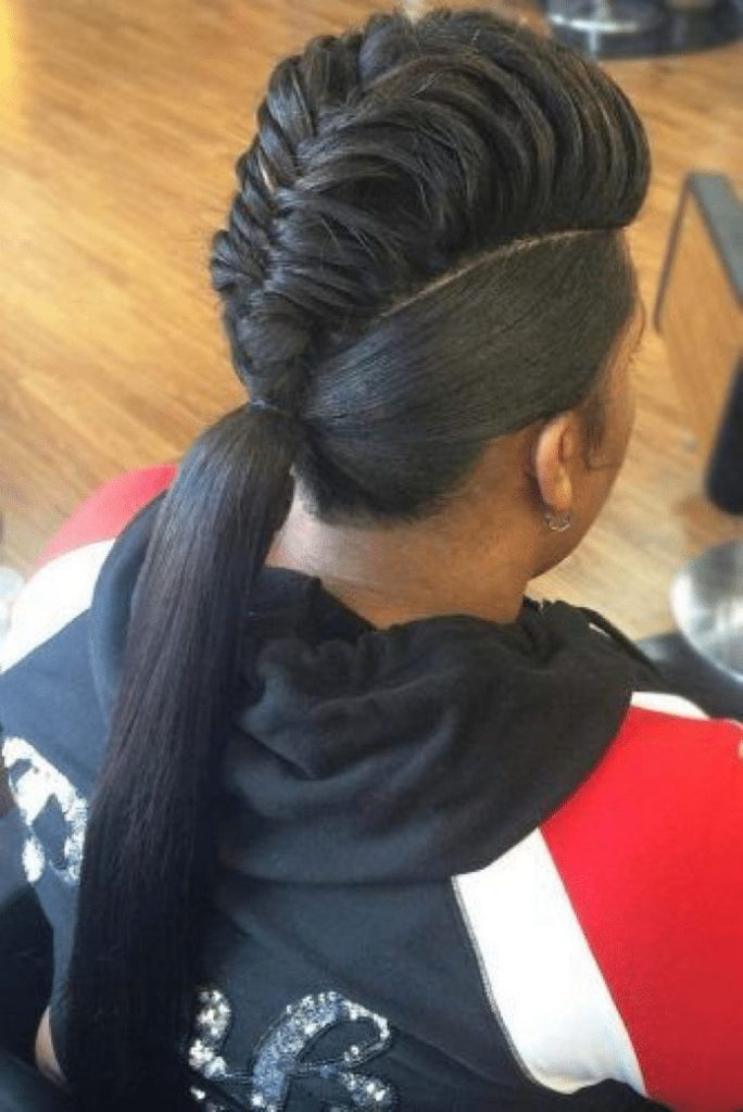 ponytail hairstyles for black hair