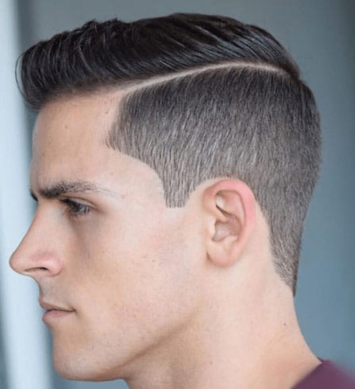 short taper hairstyle for men