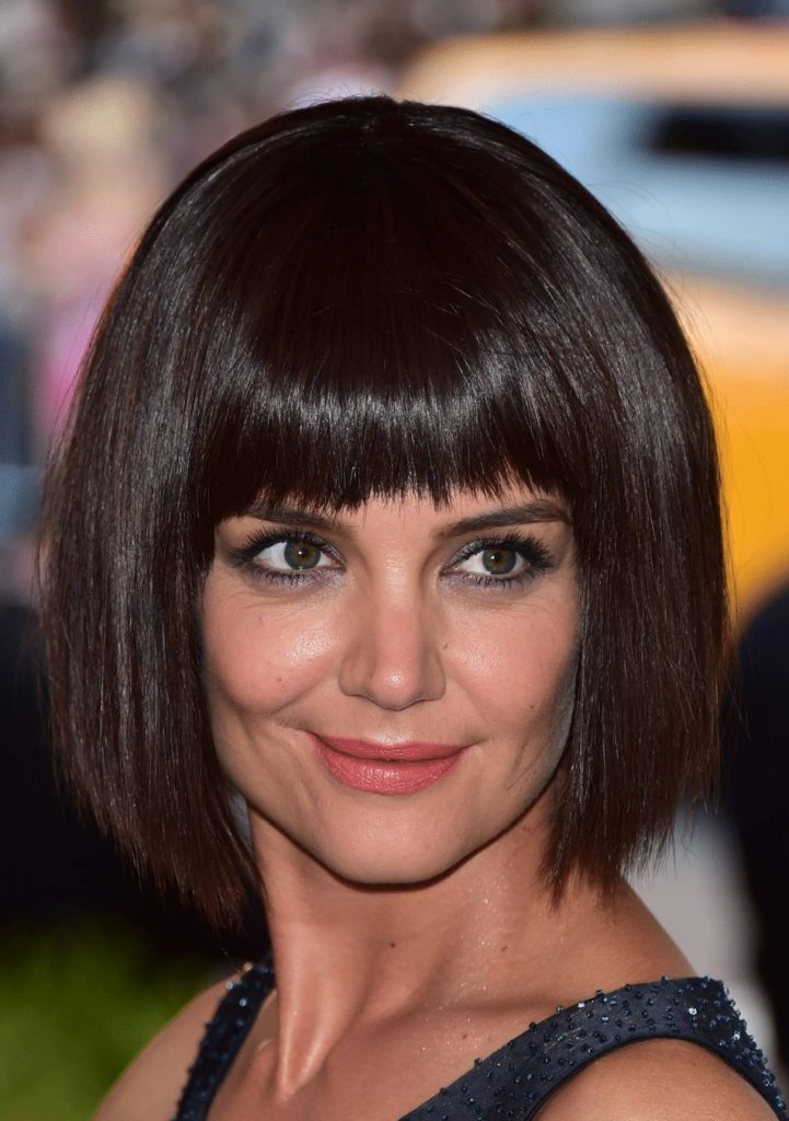 fringe bob cut women