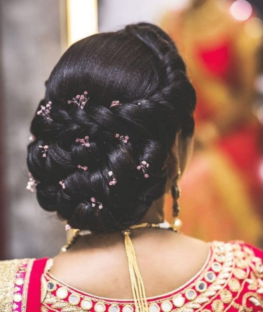 hairstyle for indian wedding party
