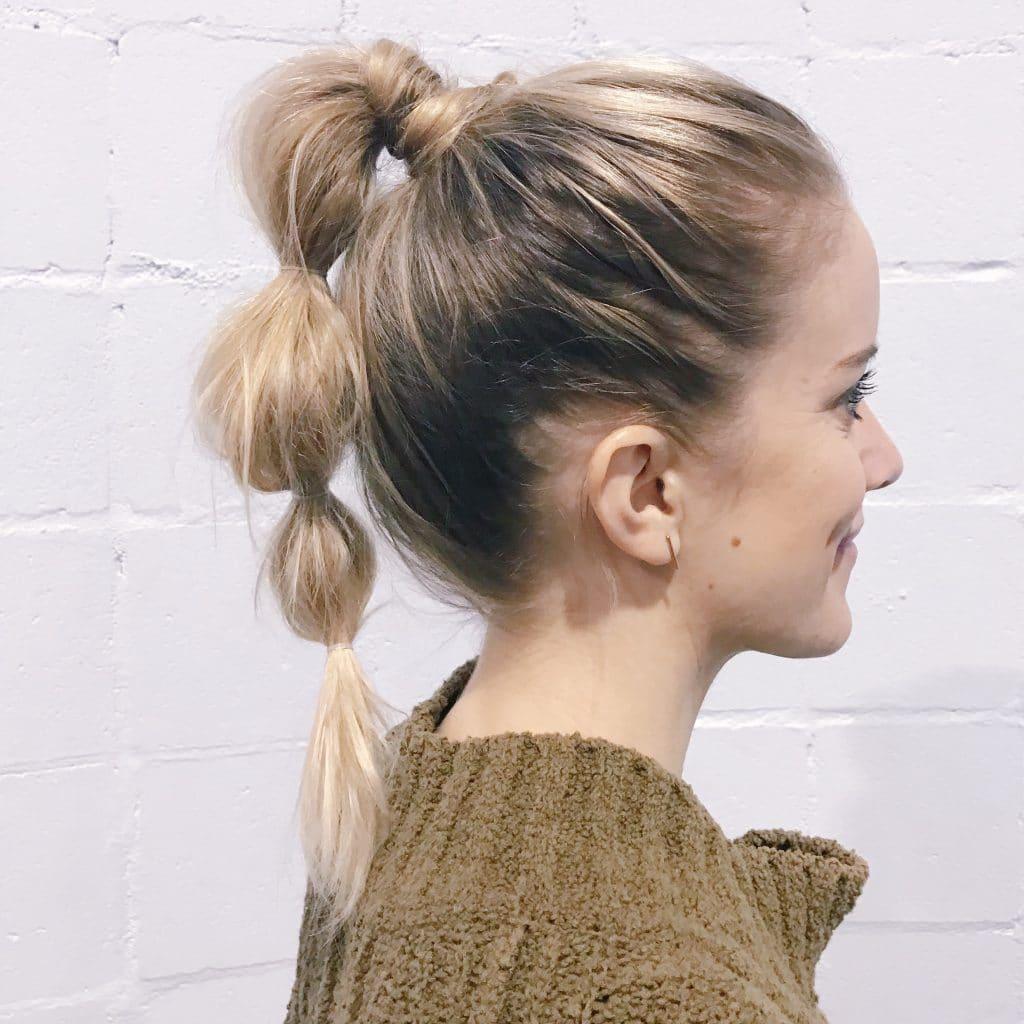 ponytail for saree