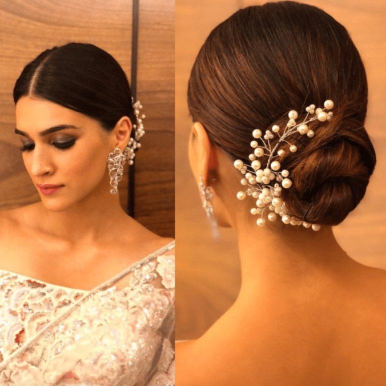 bun hairstyle for saree
