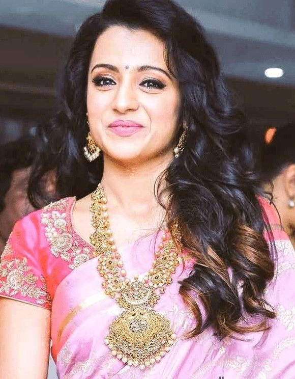 indian curly hairstyle for saree