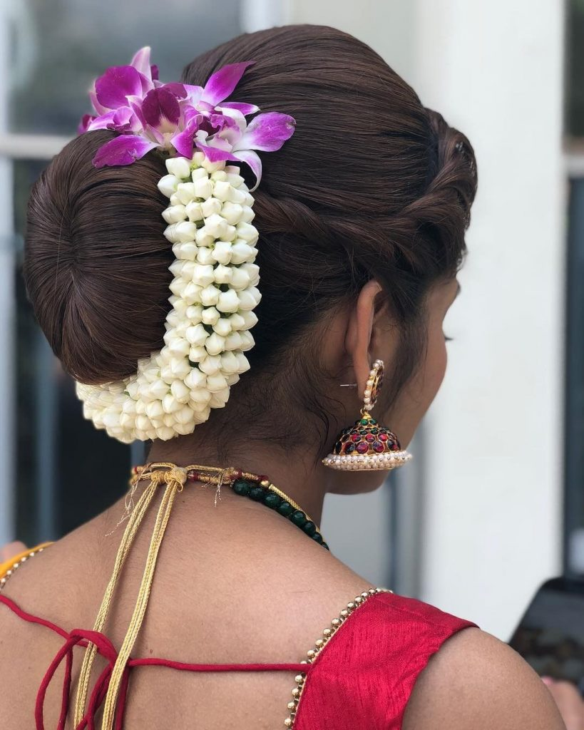gajra bun hairstyles