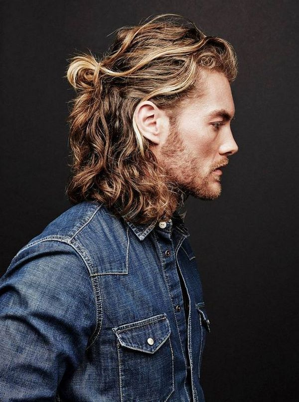 Long hairstyles men 2020