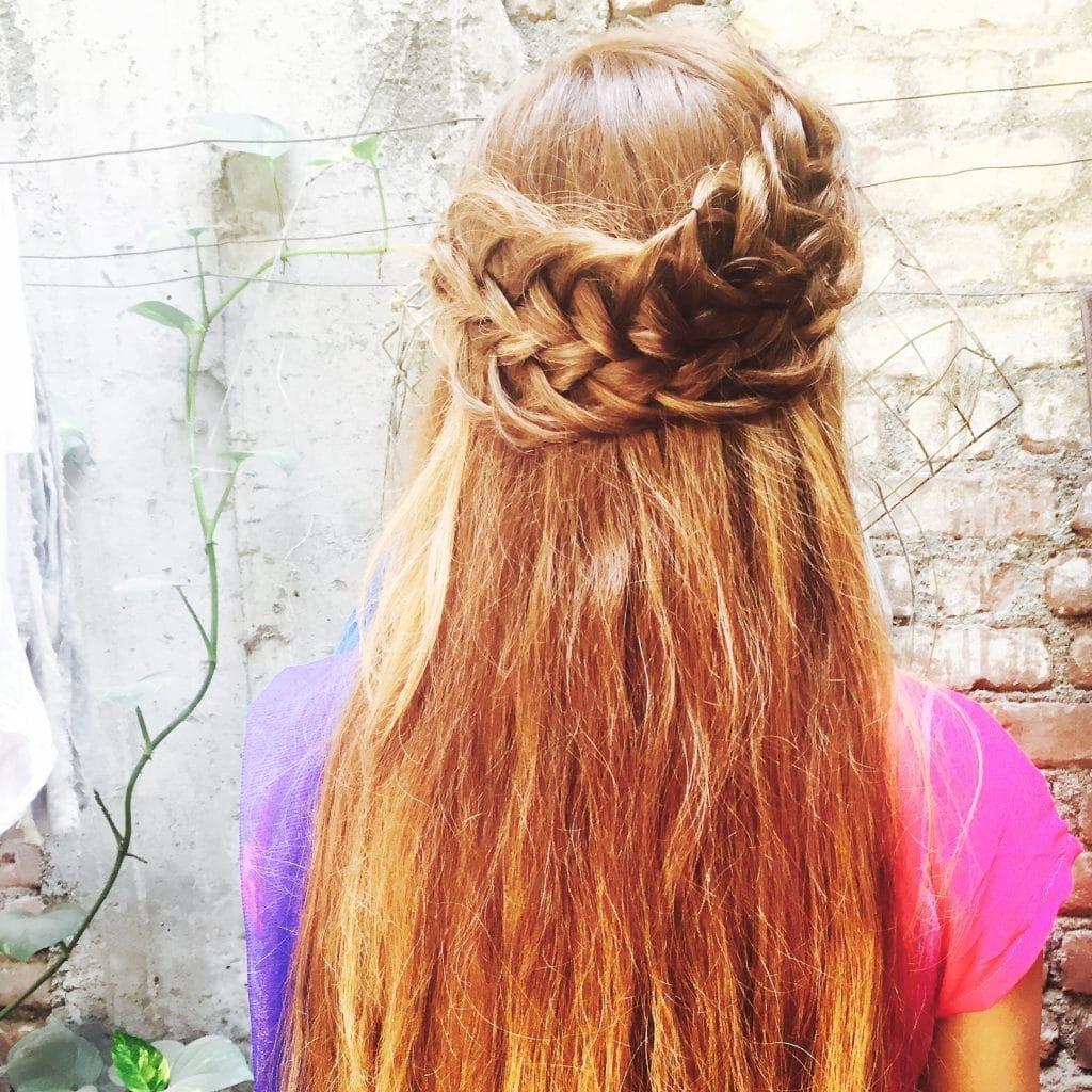 loose hair for saree