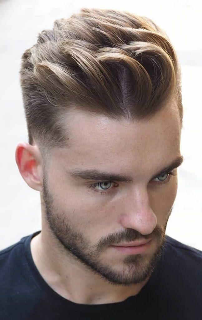 high quiff medium length hair