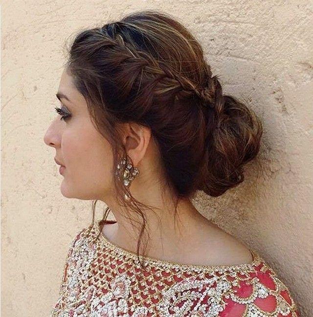 side bun Indian hairstyle
