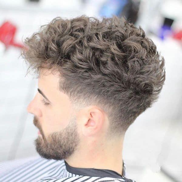 curly fade men
