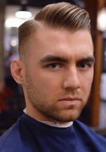 side part slick back hairstyle