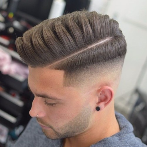 side part with short