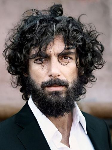 Natural Wavy Hair with Unkempt Beard
