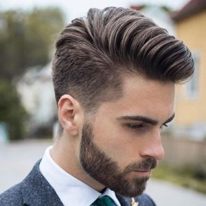 Comb Over haircut for men with big foreheads