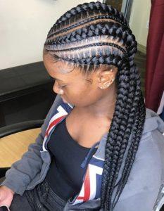 Wavy Straight Back Braids