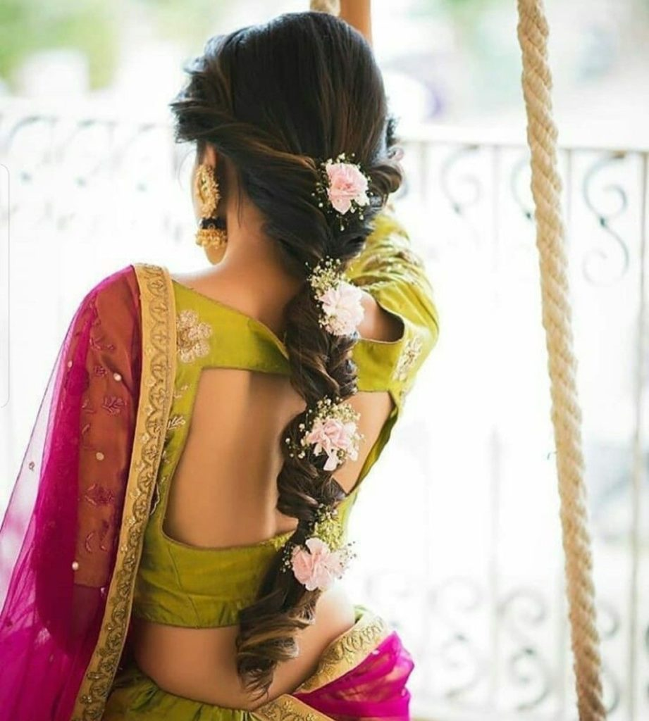 Bubble braid for indian wedding