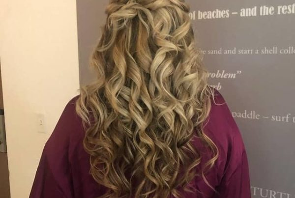 best half up and half down curly hair