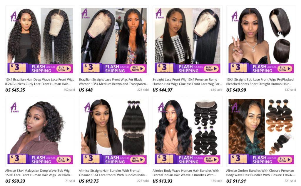 top aliexpress hair seller