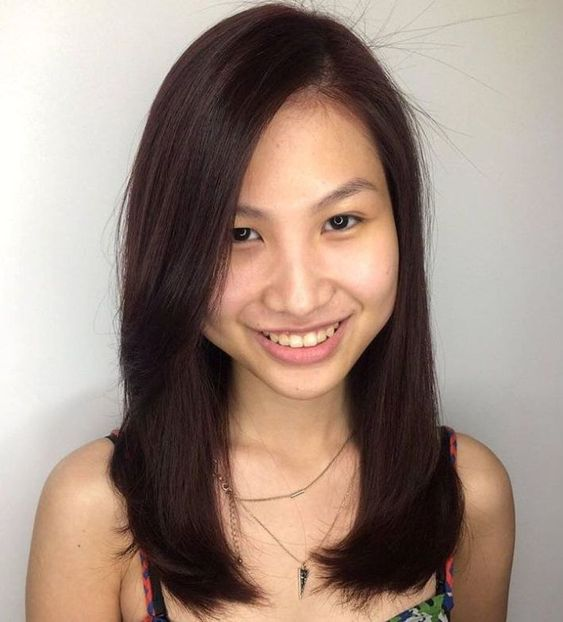 Classical straight highlights for Asian women