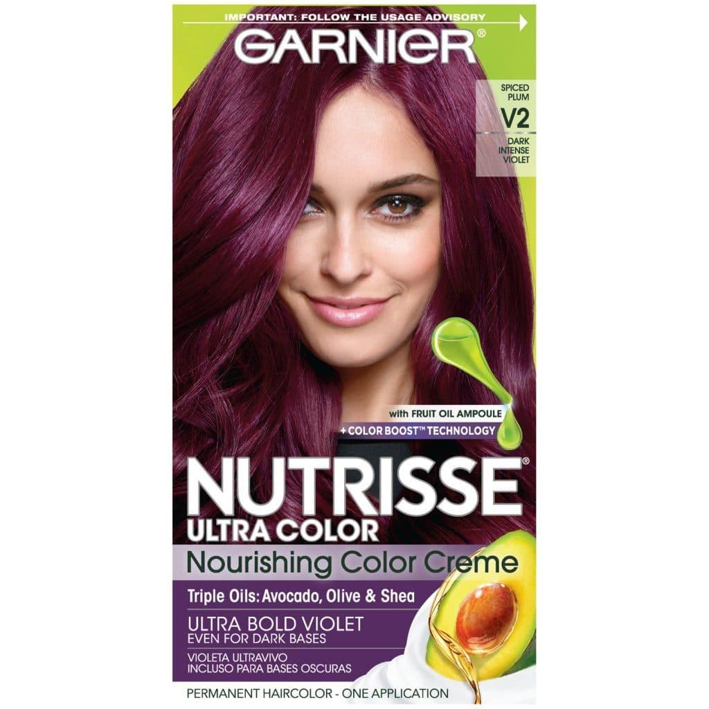 purple hair for grey eyes