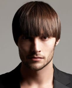 bowl cut for short hair