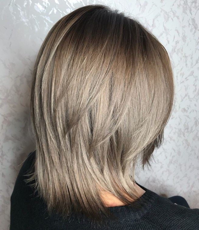two tier shoulder length hair