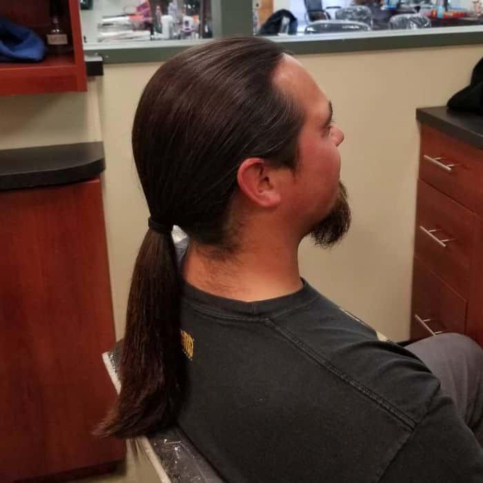 older men ponytail