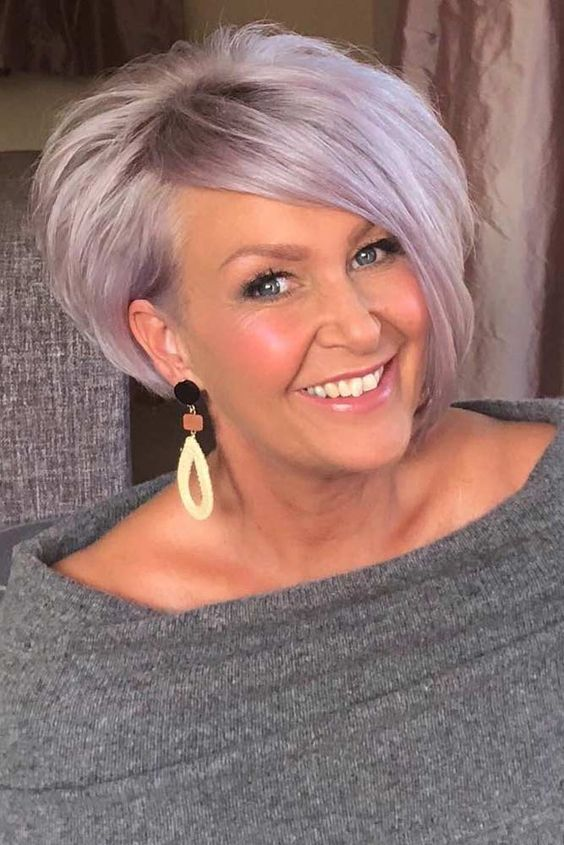 purple hair color for older women
