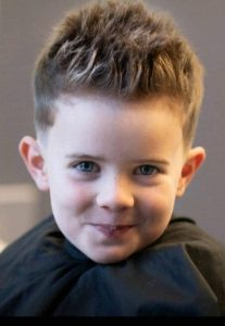 thin spiky hair for baby boy