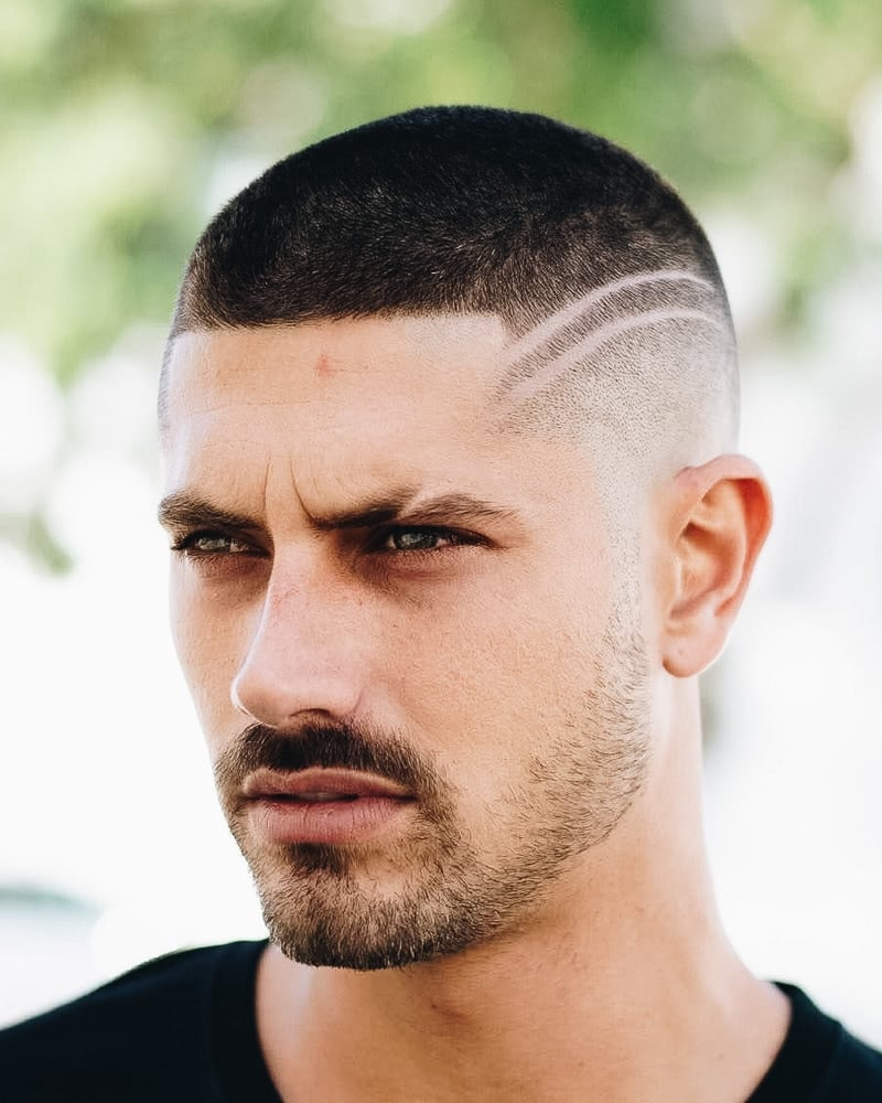 buzz cut hairstyle for guys