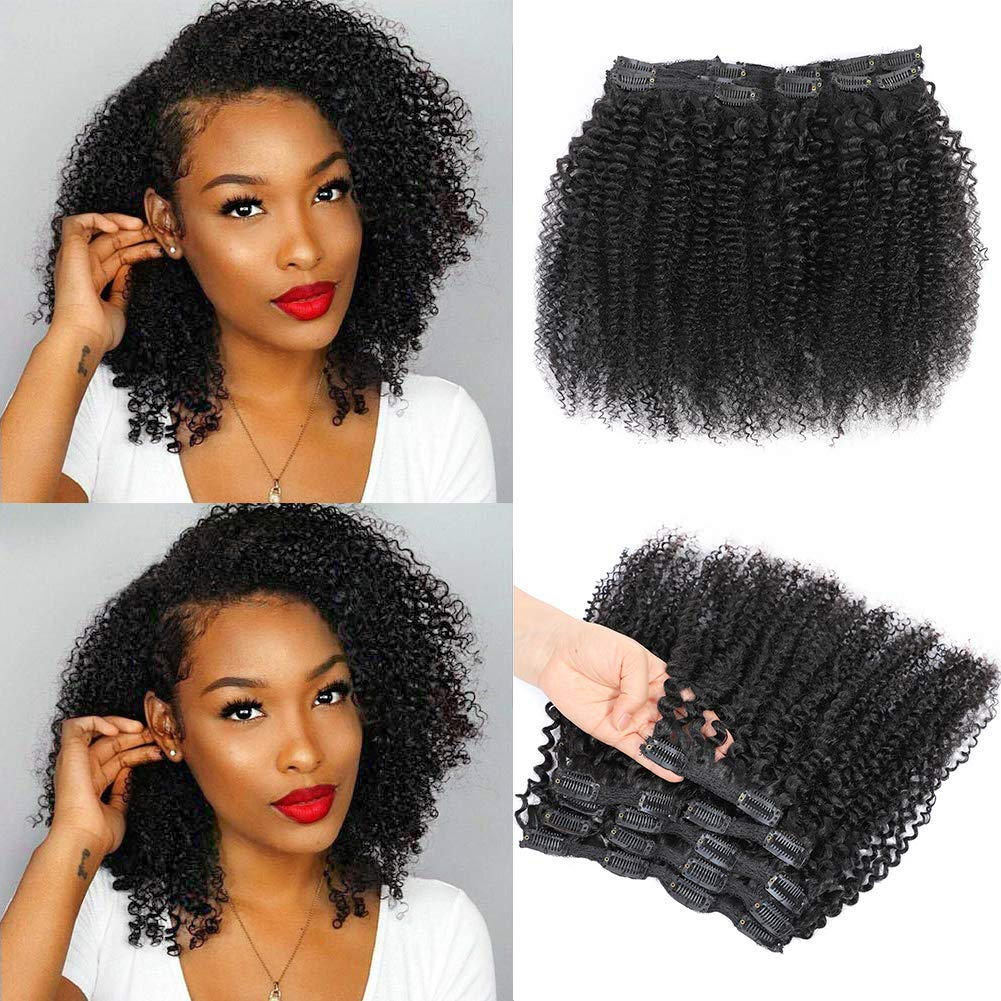 wavy clip in hair extensions for black hair