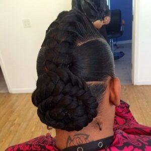 braided bun hairstyles for black women