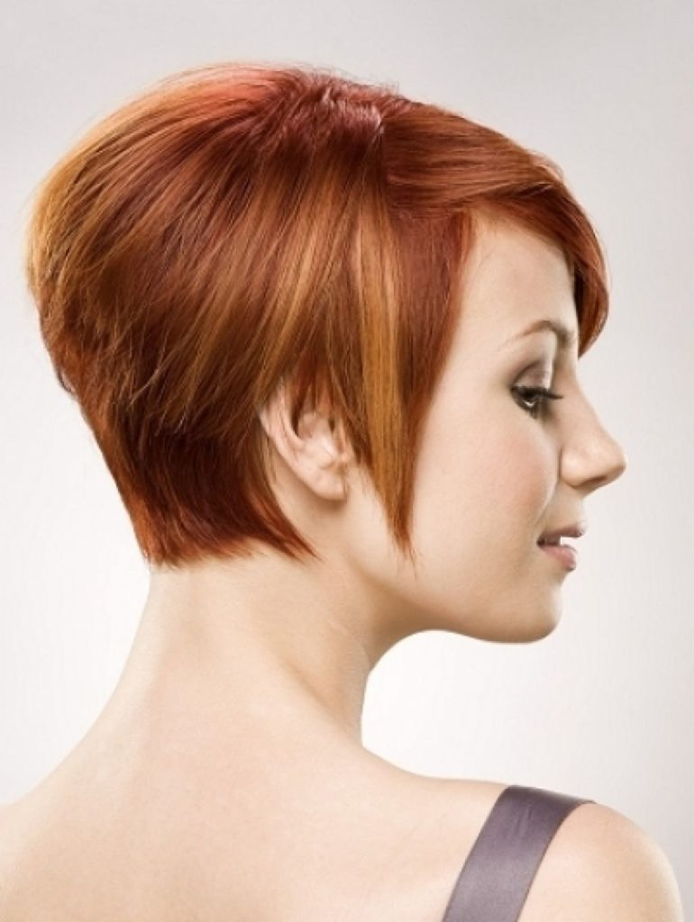 razor cut hairstyles with highlights
