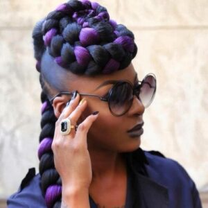 halo braids hairstyle for women