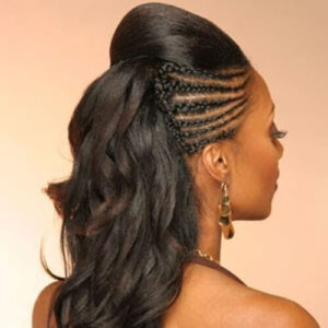 half up half up braided hairstyle