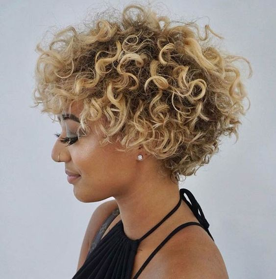 afro hairstyles with highlights