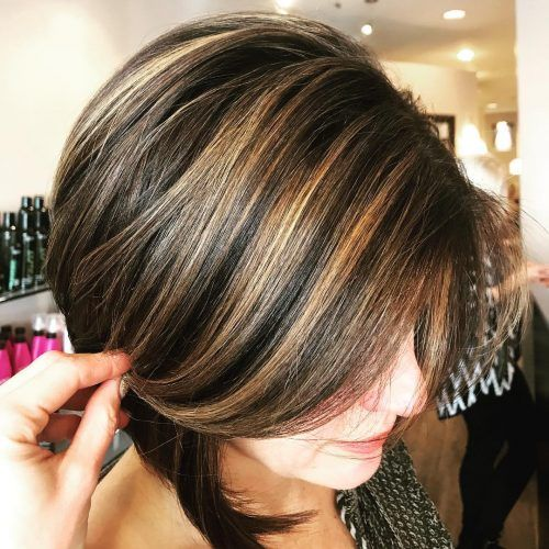 caramel bob hairstyles with highlights