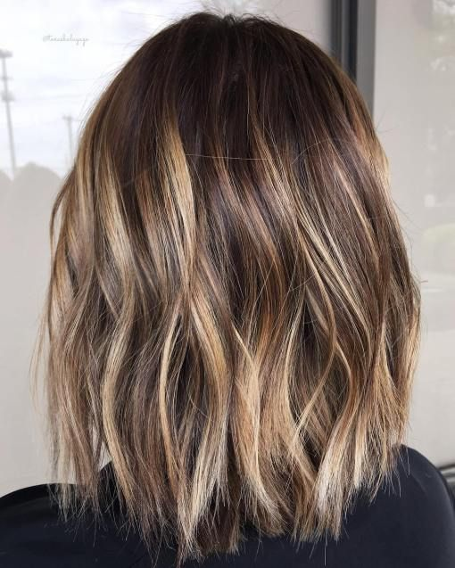 medium length hairstyles with highlights