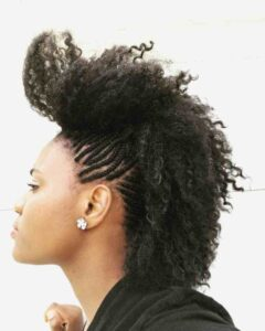 natural mohawk hairstyles with braids