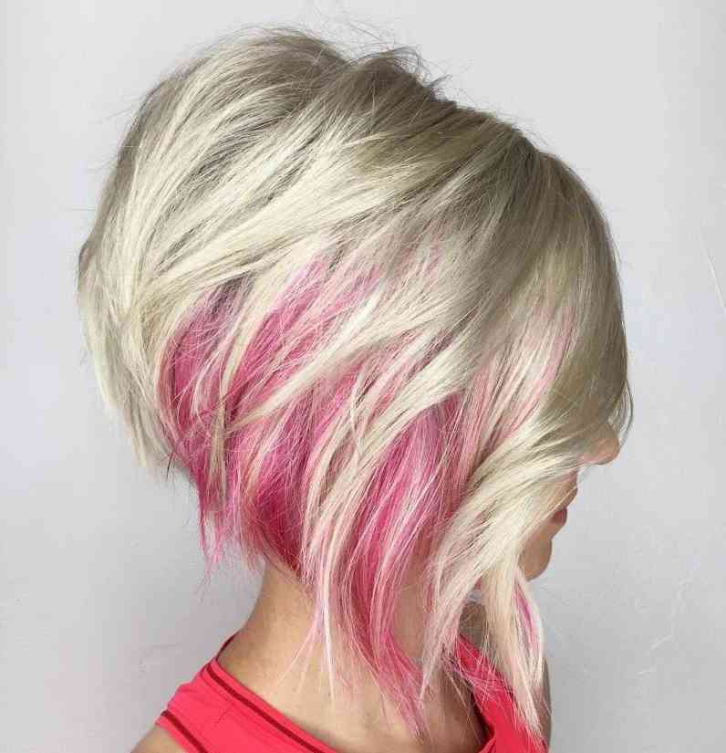 bob haircut with highlights