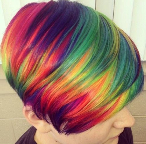 hairstyles with rainbow highlights
