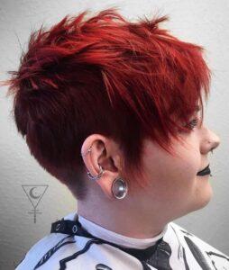 under cut hairstyle plus size women