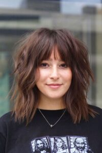 Bangs Hairstyles for plus size women