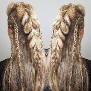 viking braids hairstyle for women
