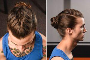 braided ponytail mens