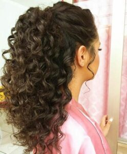 ponytail hairstyles for curly hair