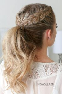braided ponytail hairstyles for women