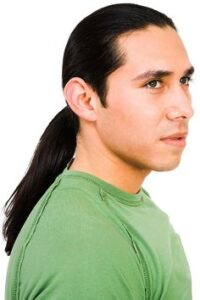 low ponytail for men